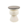 Bono Cream and Wood Bedside Table with Marble Top 5