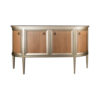 Camden Wooden and Marble Cabinet with Brass Handles 1