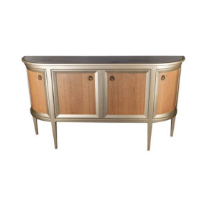 Camden Wooden and Marble Cabinet with Brass Handles Top
