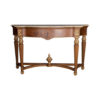 Edmund Elegant Style Console Table Marble Top 1