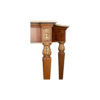 Edmund Elegant Style Console Table Marble Top 6