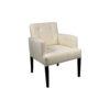 Edmund Upholstered Off White Armchair UK 2