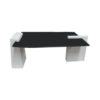 Elysee Glass Top Coffee Table with wooden Legs 1