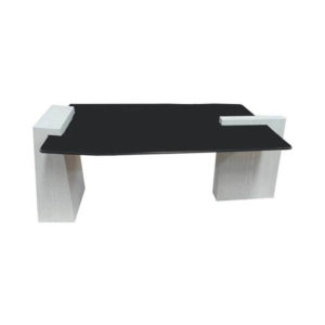 Elysee Glass Top Coffee Table with wooden Legs