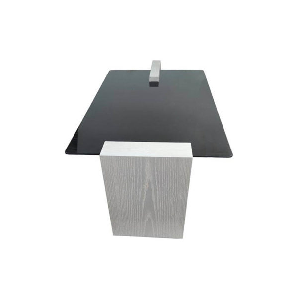 Elysee Glass Top Coffee Table with wooden Legs Top View