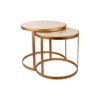Espresso Marble Stainless Steel Coffee Table Set 1