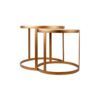 Espresso Marble Stainless Steel Coffee Table Set 4