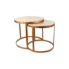 Espresso Marble Stainless Steel Coffee Table Set 2