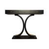 Fresno Dark Brown 3 Drawer Console Table with Curved Legs 1