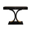 Fresno Dark Brown 3 Drawer Console Table with Curved Legs 3