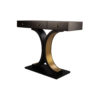Fresno Dark Brown 3 Drawer Console Table with Curved Legs 2
