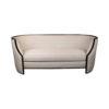 Frisco Upholstered Wooden Frame Cream Linen Sofa 1