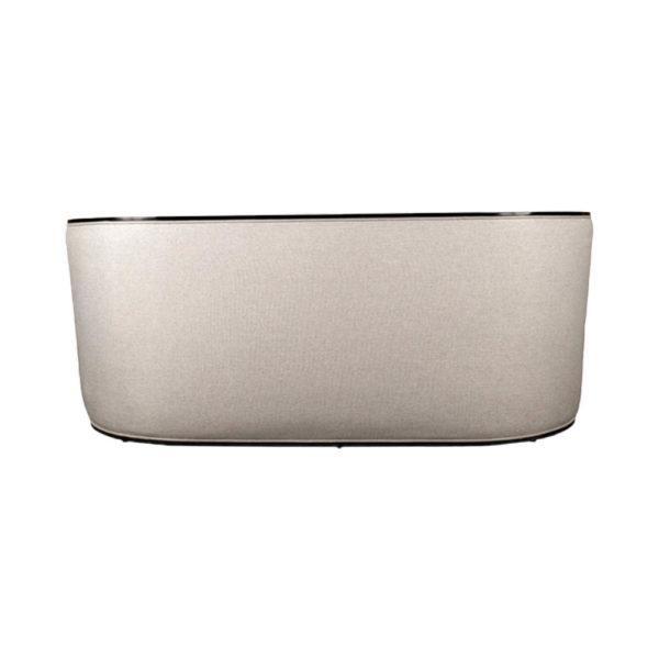 Frisco Upholstered Wooden Frame Cream Linen Sofa Back
