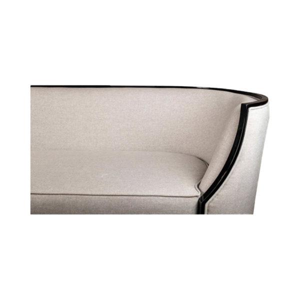 Frisco Upholstered Wooden Frame Cream Linen Sofa Details