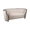 Frisco Upholstered Wooden Frame Cream Linen Sofa 2