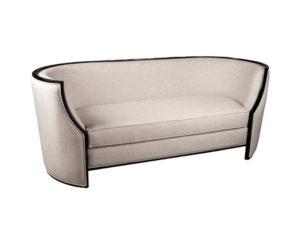Frisco Upholstered Wooden Frame Cream Linen Sofa View