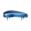 Hans Upholstered with Curve Navy Blue Sofa 1