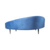 Hans Upholstered with Curve Navy Blue Sofa 3