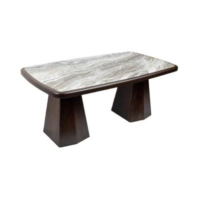 Hayman Brown Marble Coffee Table Top Beside View
