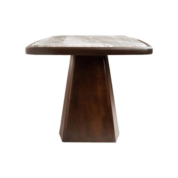 Hayman Brown Marble Coffee Table Top Left View
