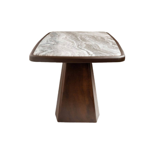 Hayman Brown Marble Coffee Table Top Right View