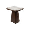 Hayman Brown Marble Topped Side Table 1