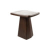 Hayman Brown Marble Topped Side Table 2