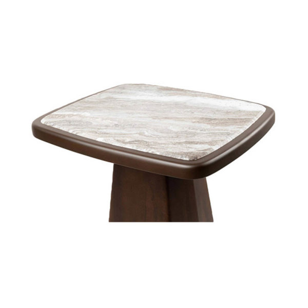 Hayman Brown Marble Topped Side Table Details