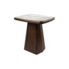 Hayman Brown Marble Topped Side Table 7