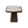 Hayman Brown Marble Topped Side Table 4