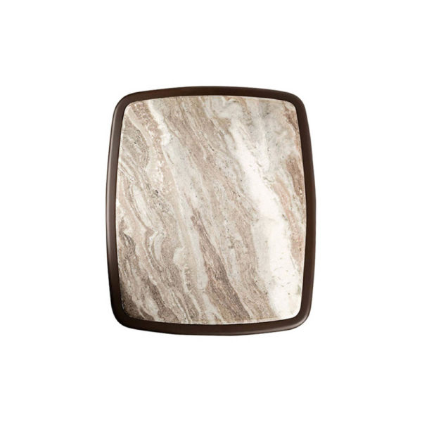 Hayman Brown Marble Topped Side Table Top