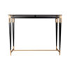 Ida Glass Console Table with Stainless Steel Legs 1