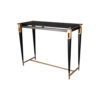 Ida Glass Console Table with Stainless Steel Legs 2