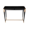 Ida Glass Console Table with Stainless Steel Legs 4
