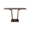 Judy Walnut Console Table with Curved Legs 1