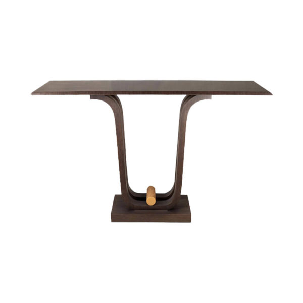 Judy Walnut Console Table with Curved Legs