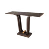 Judy Walnut Console Table with Curved Legs 5