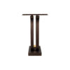 Judy Walnut Console Table with Curved Legs 4