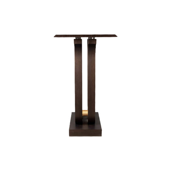 Judy Walnut Console Table with Curved Legs Left View