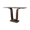 Judy Walnut Console Table with Curved Legs 2