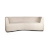 Julson Upholstered Curved Beige Fabric Sofa 1