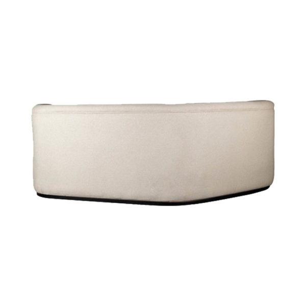 Julson Upholstered Curved Beige Fabric Sofa Back Beige