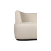 Julson Upholstered Curved Beige Fabric Sofa 7