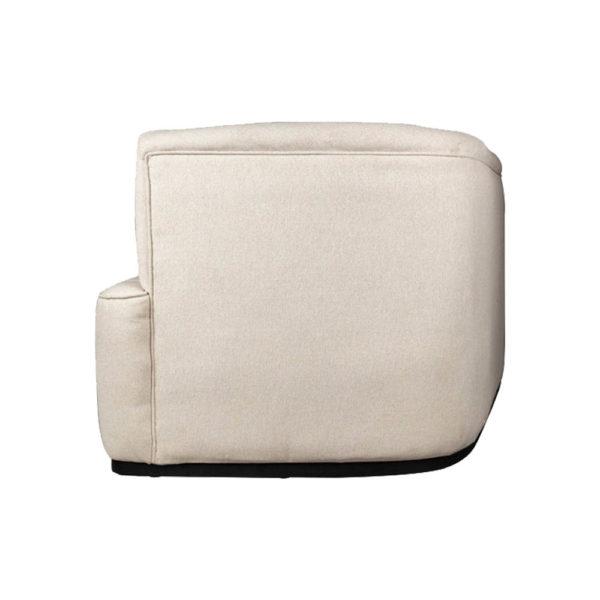 Julson Upholstered Curved Beige Fabric Sofa Side Beige