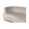 Julson Upholstered Curved Beige Fabric Sofa 5