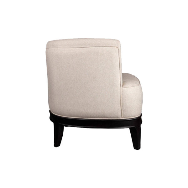 Marais Upholstered Tup Beige Armchair Right Beige D