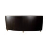 Nathan Oval Dark Brown Sideboard with Brass Inlay 1
