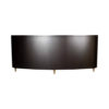 Nathan Oval Dark Brown Sideboard with Brass Inlay 2
