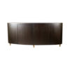 Nathan Oval Dark Brown Sideboard with Brass Inlay 9