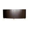 Nathan Oval Dark Brown Sideboard with Brass Inlay 7